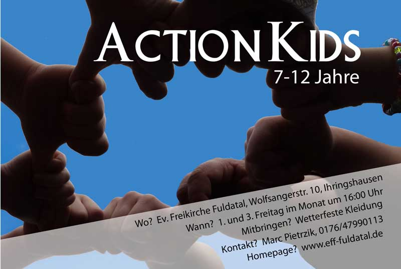 Einladung Action Kids